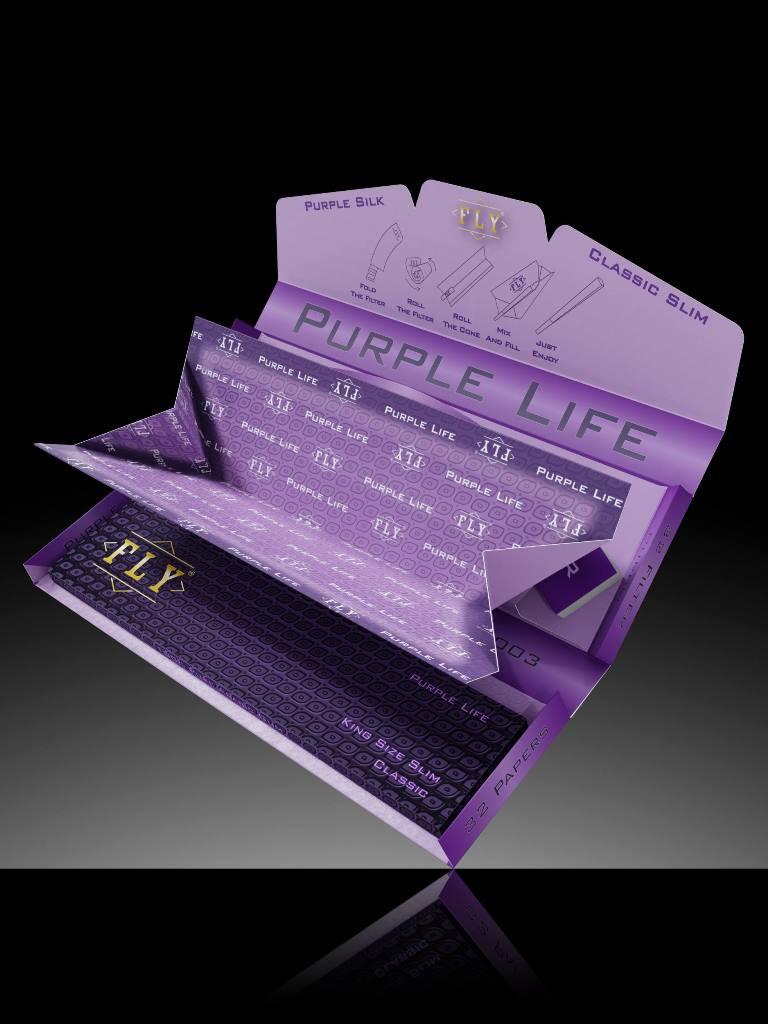 fly tray set purple silk