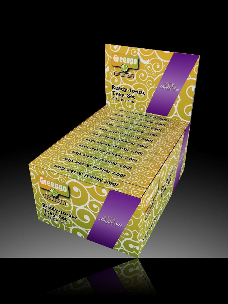 Greengo/FLY Tray Set Purple Silk Display