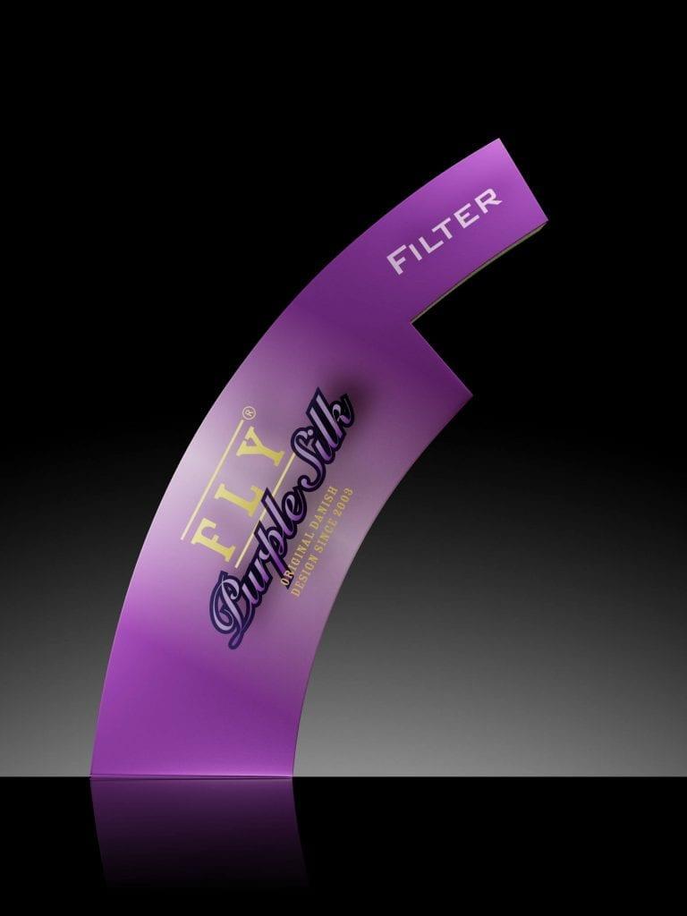 fly purple silk filter